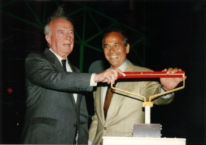 Arie Genger and Yitzhak Rabin